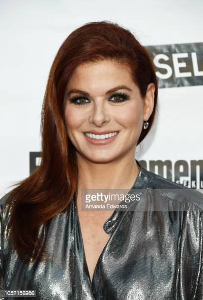 Actress Debra Messing arrives at the opening night of Sell/Buy/Date at the Los Angeles LGBT Center on October 14 2018 in Los Angeles California