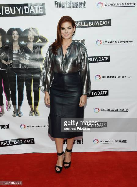 Actress Debra Messing arrives at the opening night of 'Sell/Buy/Date' at the Los Angeles LGBT Center on October 14 2018 in Los Angeles California