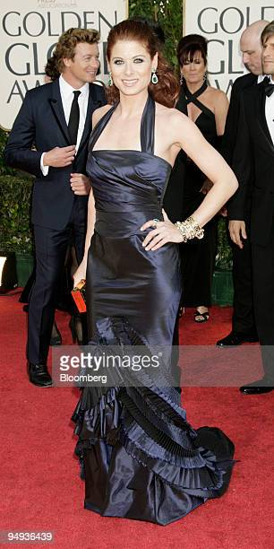 Actress Debra Messing arrives for the 66th Annual Golden Globe Awards in Beverly Hills California US on Sunday Jan 11 2009 Heath Ledger received a...