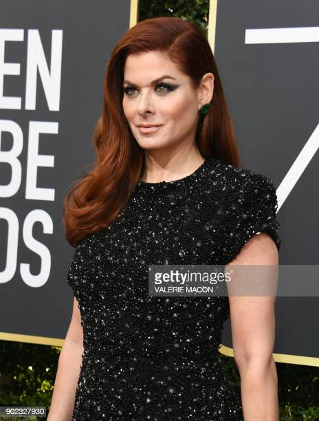 Actress Debra Messing arrives for the 75th Golden Globe Awards on January 7 in Beverly Hills California