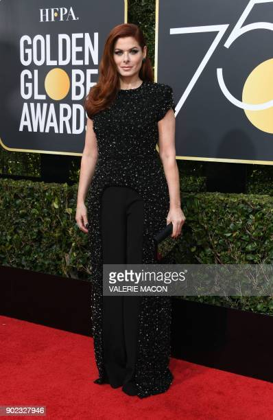 Actress Debra Messing arrives for the 75th Golden Globe Awards on January 7 in Beverly Hills California / AFP PHOTO / VALERIE MACON
