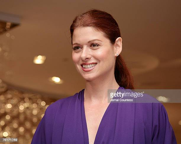 Actress Debra Messing at the Unveiling of SAKS Fifth Ave's '10022SHOE' its new designer shoe floor that due to its size was given its own 'ZIP Code'...