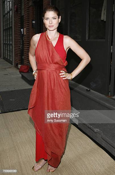 Actress Debra Messing attends a celebration of Eli Halili of Agas Tamar jewelry at Donna Karan's Urban Zen August 6 2007 in New York City