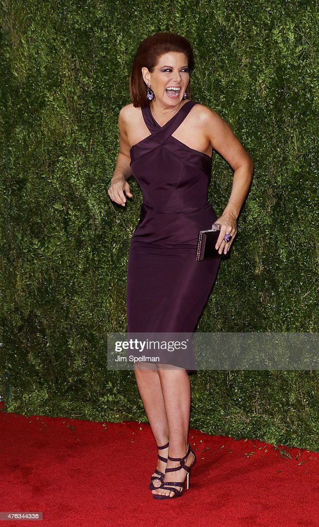 Actress Debra Messing attends American Theatre Wing's 69th Annual Tony Awards at Radio City Music Hall on June 7, 2015 in New York City.