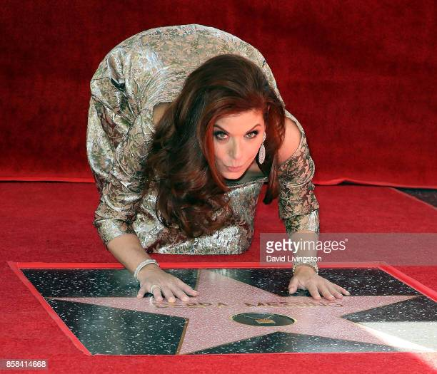 Actress Debra Messing attends her being honored with a Star on the Hollywood Walk of Fame on October 6 2017 in Hollywood California