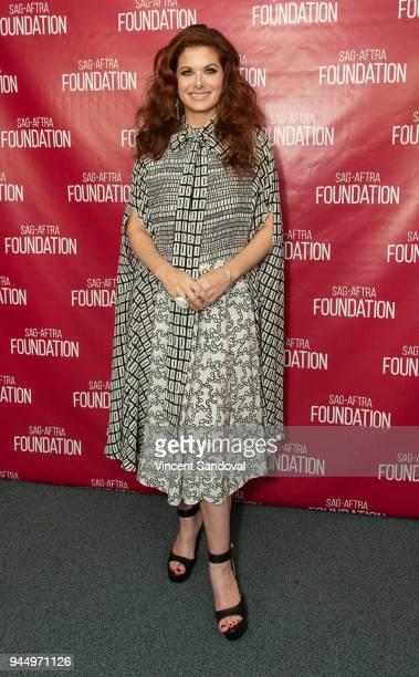Actress Debra Messing attends SAGAFTRA Foundation Conversations screening of Will Grace at SAGAFTRA Foundation Screening Room on April 11 2018 in Los...
