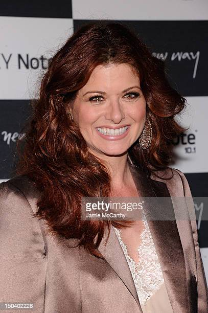 Actress Debra Messing attends Samsung Galaxy Note 101 Launch Event at Jazz at Lincoln Center on August 15 2012 in New York City