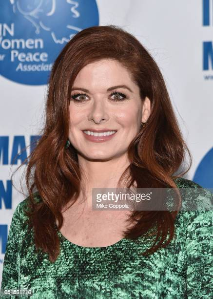Actress Debra Messing attends the 2017 UN Women for Peace Association March In March Awards Luncheon at ONE UN New York on March 10 2017 in New York...