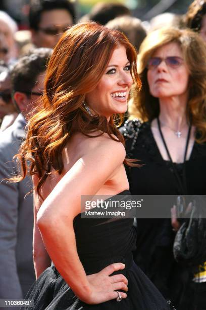 ACCESS*** Actress Debra Messing attends the 60th Primetime Emmy Awards held at the NOKIA Theatre on September 21 2008 in Los Angeles California