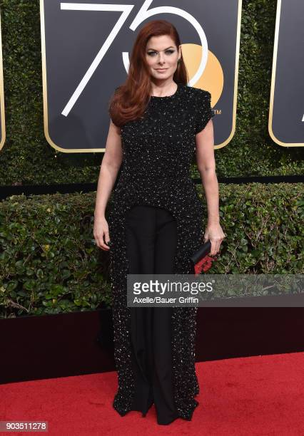 Actress Debra Messing attends the 75th Annual Golden Globe Awards at The Beverly Hilton Hotel on January 7 2018 in Beverly Hills California