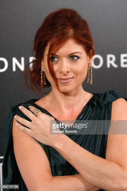 Actress Debra Messing attends the 8th Annual Awards Season Diamond Fashion Show Preview hosted by the Diamond Information Center and InStyle held at...