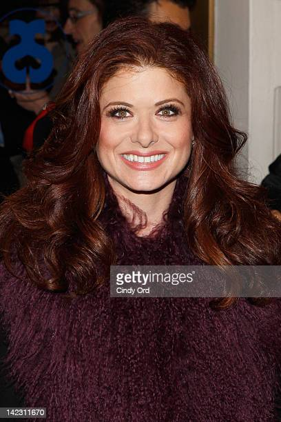 Actress Debra Messing attends the Gore Vidal's The Best Man Broadway Opening night at the Gerald Schoenfeld Theatre on April 1 2012 in New York New...