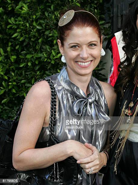 Actress Debra Messing attends the Kari Feinstein MTV Movie Awards Style Lounge Day 2 at a private residence on May 30, 2008 in Los Angeles,...