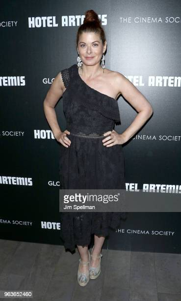 Actress Debra Messing attends the screening of Hotel Artemis hosted by Global Road Entertainment with The Cinema Society at the Quad Cinema on May 29...