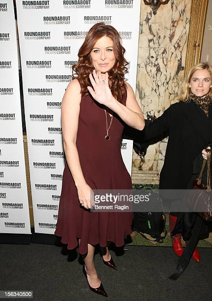 Actress Debra Messing attends the 'The Mystery Of Edwin Drood' Broadway Opening Night at the Roundabout Theatre Company's Studio 54 on November 13...
