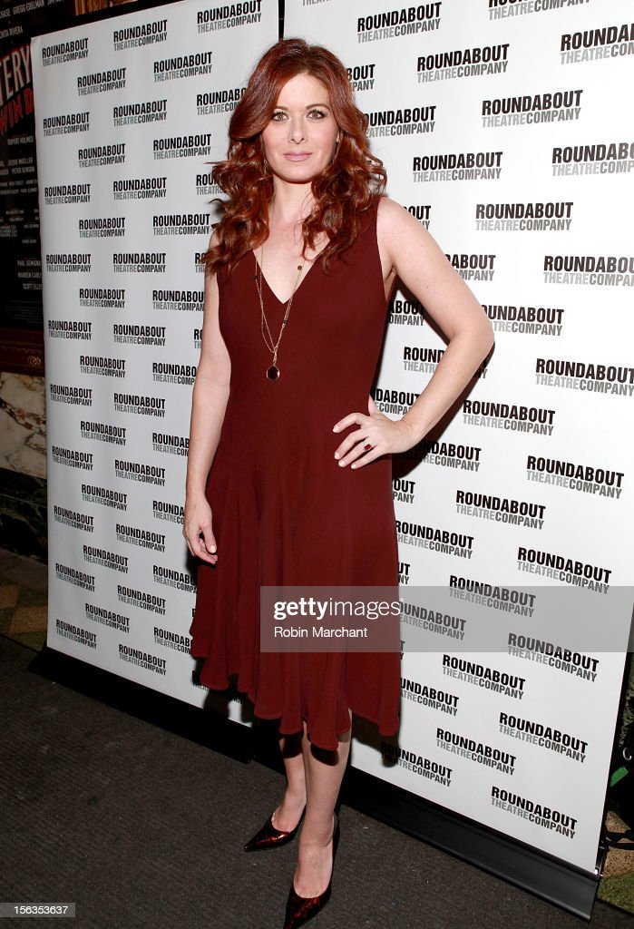 Actress Debra Messing attends the 'The Mystery Of Edwin Drood' Broadway Opening Night at Roundabout Theatre Company's Studio 54 on November 13, 2012 in New York City.