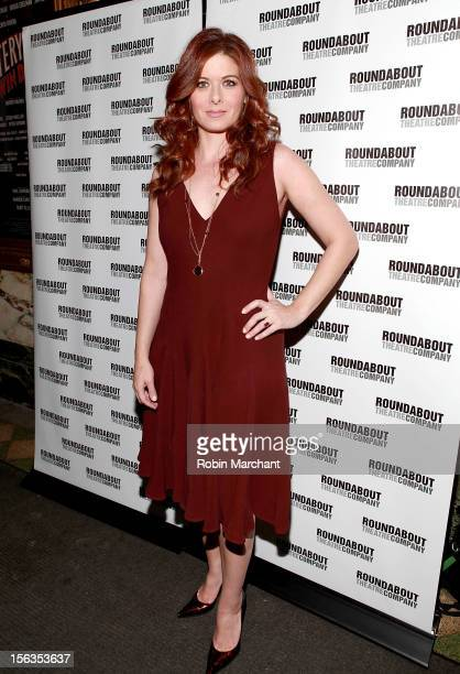 Actress Debra Messing attends the 'The Mystery Of Edwin Drood' Broadway Opening Night at Roundabout Theatre Company's Studio 54 on November 13 2012...