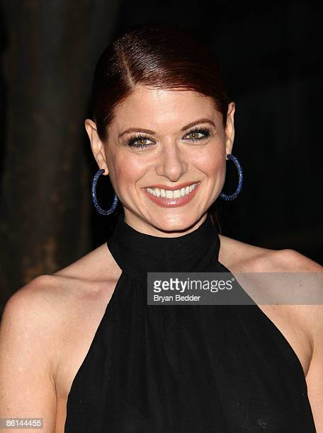 Actress Debra Messing attends the Vanity Fair party for the 2009 Tribeca Film Festival at the State Supreme Courthouse on April 21 2009 in New York...