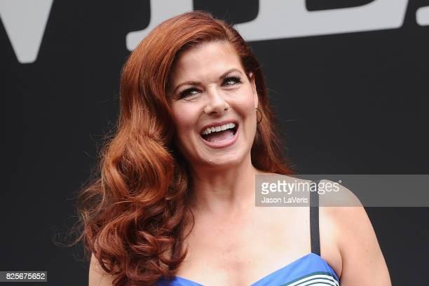 Actress Debra Messing attends the 'Will Grace' start of production kick off event and ribbon cutting ceremony at Universal City Plaza on August 2...