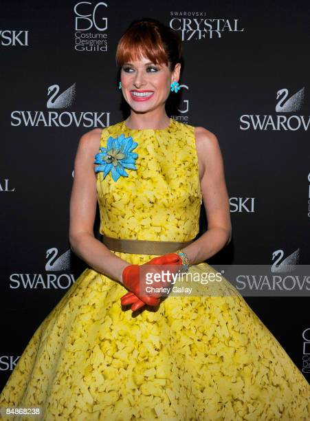 Actress Debra Messing backstage during the 11th annual Costume Designers Guild Awards held at the Four Seasons Beverly Wilshire Hotel on Februray 17...