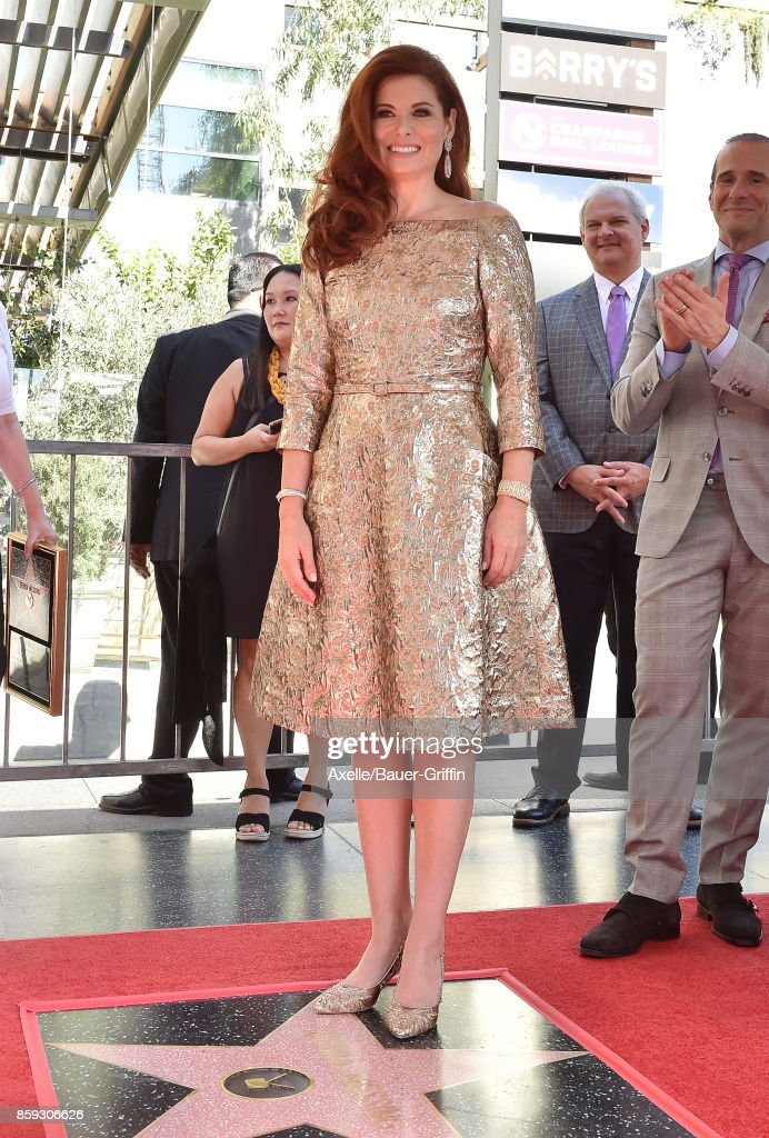 Actress Debra Messing is honored with star on the Hollywood Walk of Fame on October 6, 2017 in Hollywood, California.