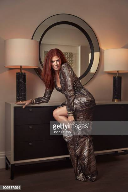 Actress Debra Messing is photographed for New York Post's Alexa on November 11 2017 in Los Angeles California