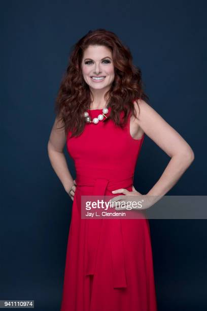 Actress Debra Messing of 'Will and Grace' is photographed for Los Angeles Times on March 17 2018 at the PaleyFest at the Dolby Theatre in Hollywood...