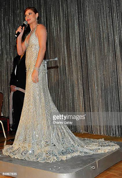 Actress Debra Messing speaks during the 11th annual Costume Designers Guild Awards held at the Four Seasons Beverly Wilshire Hotel on Februray 17...