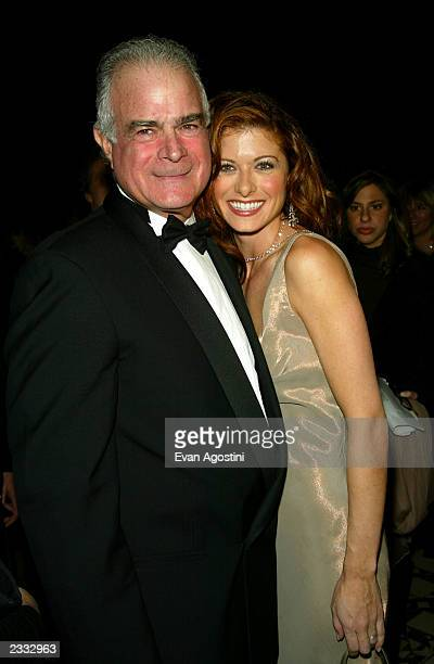 Actress Debra Messing with her father at the 2002 Ace Awards presented by The Accessories Council at Cipriani 42nd Street in New York City November 5...
