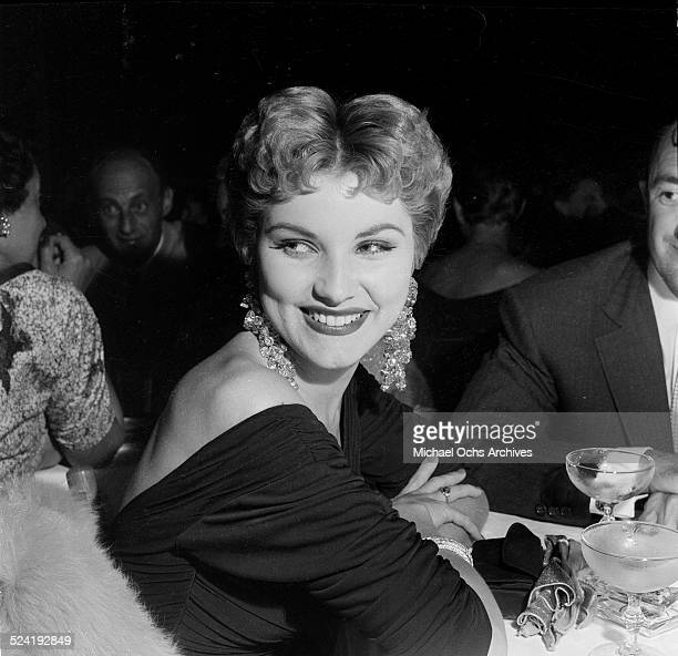 Actress Debra Paget and escort attend an event at Ciro's in Los Angeles,CA.
