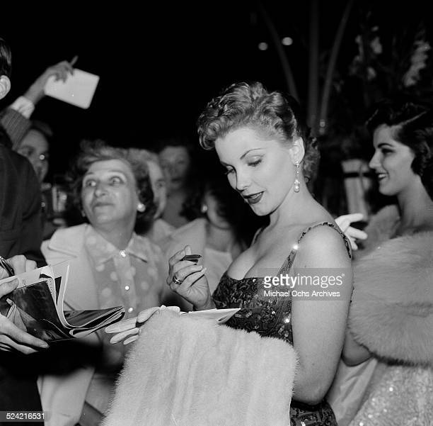 Actress Debra Paget attends an event in Los Angeles,CA.