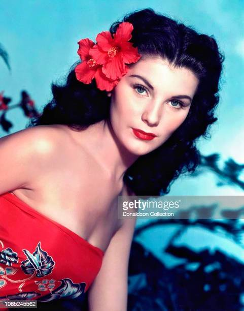 Actress Debra Paget in a scene from the movie Bird of Paradise