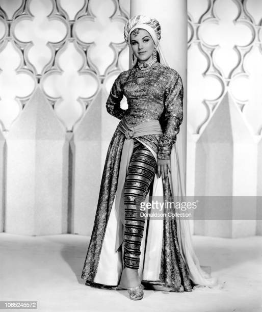 Actress Debra Paget in a scene from the movie Omar Khayyam