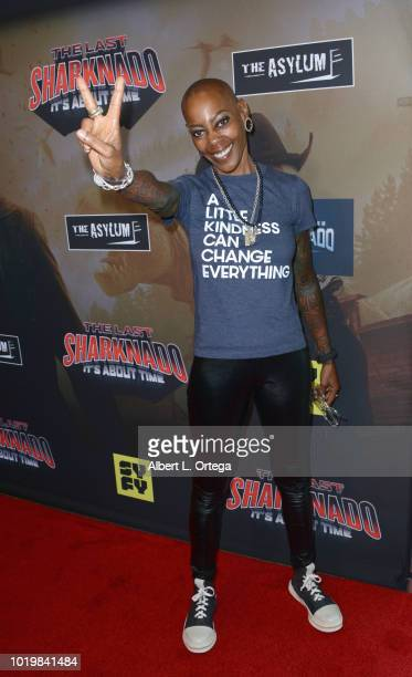Actress Debra Wilson arrives for the Premiere Of The Asylum And Syfy's 'The Last Sharknado It's About Time' held at Cinemark Playa Vista on August 19...