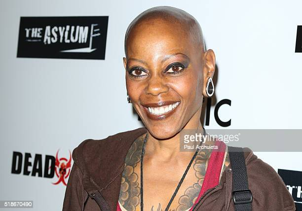 Actress Debra Wilson attends the premiere of Syfy's Dead 7 at Harmony Gold on April 1 2016 in Los Angeles California