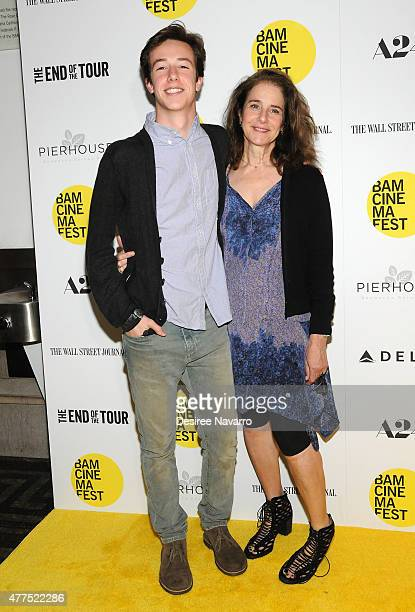 Actress Debra Winger and son Gideon Babe Ruth Howard attend BAMcinemaFest 2015 The End Of Tour Opening Night Screening at BAM Howard Gilman Opera...
