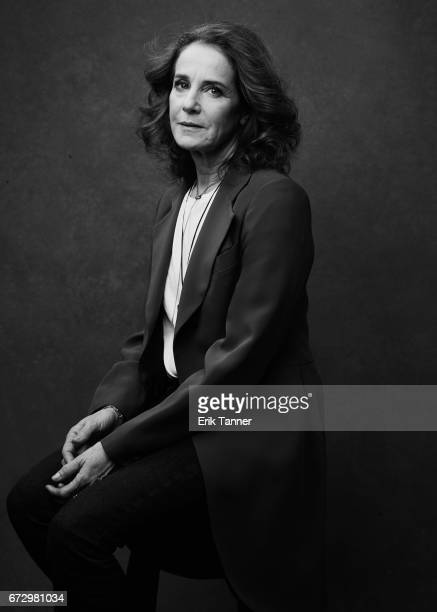Actress Debra Winger from 'The Lovers' poses at the 2017 Tribeca Film Festival portrait studio on on April 23 2017 in New York City