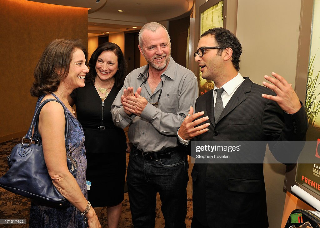 Actress Debra Winger, producer Trish Adlesic, actor Aidan Quinn, and director Josh Fox attend The HBO Special Screening Of 'Gasland Part II' at HBO Theater on June 25, 2013 in New York City.