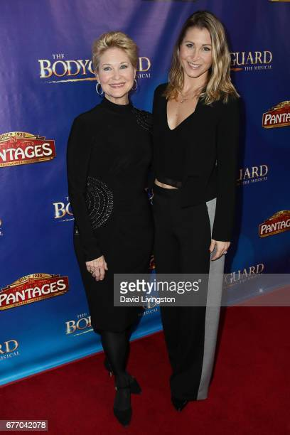 Actress Dee Wallace and Gabrielle Stone arrive at the premiere of The Bodyguard at the Pantages Theatre on May 2 2017 in Hollywood California