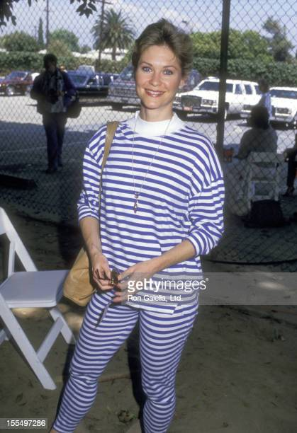 Actress Dee Wallace attends the Alpo's 11th Bi-Annual Actors & Others for Animals Celebrity Fair on August 30, 1987 at Burbank Studio Ranch in...