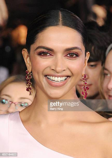 Actress Deepika Padukone arrives at the premiere of Paramount Pictures' 'xXx Return Of Xander Cage' at TCL Chinese Theatre IMAX on January 19 2017 in...
