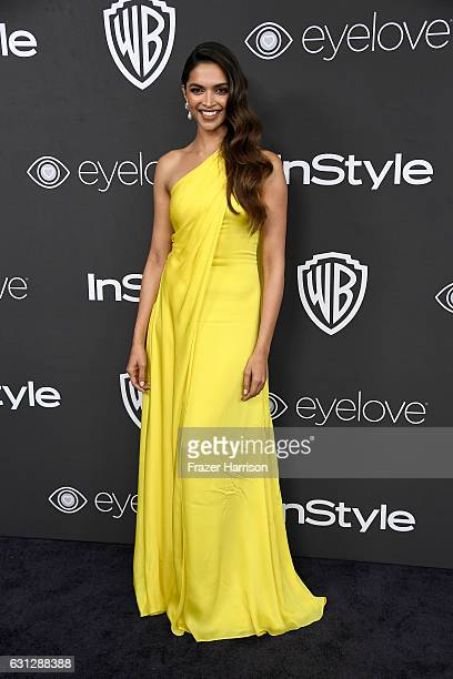 Actress Deepika Padukone attends the 18th Annual PostGolden Globes Party hosted by Warner Bros Pictures and InStyle at The Beverly Hilton Hotel on...