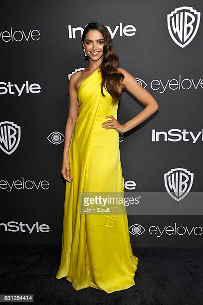 Actress Deepika Padukone attends The 2017 InStyle and Warner Bros 73rd Annual Golden Globe Awards PostParty at The Beverly Hilton Hotel on January 8...