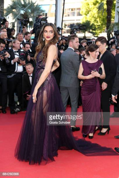 Actress Deepika Padukone attends the 'Ismael's Ghosts ' screening and Opening Gala during the 70th annual Cannes Film Festival at Palais des...