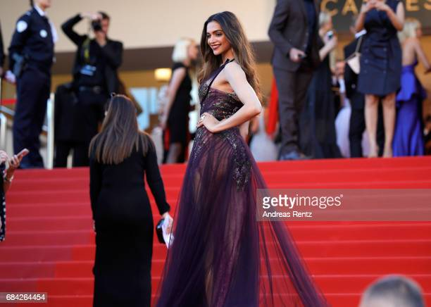 Actress Deepika Padukone attends the Ismael's Ghosts screening and Opening Gala during the 70th annual Cannes Film Festival at Palais des Festivals...