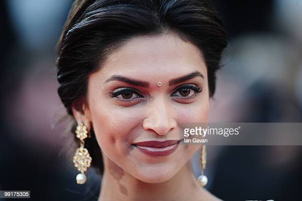 Actress Deepika Padukone attends the 'On Tour' Premiere at the Palais des Festivals during the 63rd Annual Cannes Film Festival on May 13 2010 in...