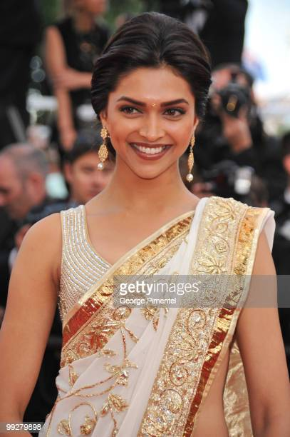 Actress Deepika Padukone attends the 'On Tour' Premiere at the Palais des Festivals during the 63rd Annual Cannes Film Festival on May 13 2010 on May...