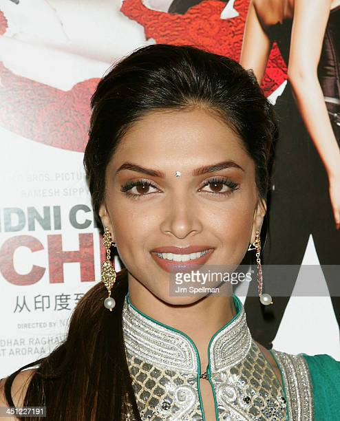 Actress Deepika Padukone attends the premiere of Chandni Chowk to China at the AMC Empire 25 on January 8 2009 in New York City