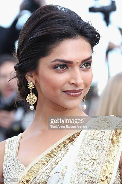 Actress Deepika Padukone attends the Premiere of 'On Tour' at the Palais des Festivals during the 63rd Annual International Cannes Film Festival on...