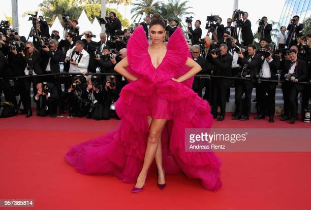 Actress Deepika Padukone attends the screening of Ash Is The Purest White during the 71st annual Cannes Film Festival at Palais des Festivals on May...